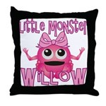 Little Monster Willow Throw Pillow
