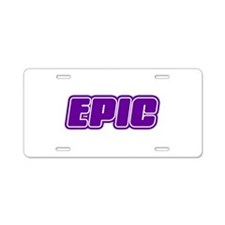 Epic Aluminum License Plate