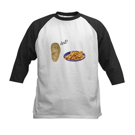 Potato French Fries Dad Kids Baseball Jersey