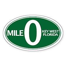 Mile 0 - Mile Zero - Key West, FL - Decal