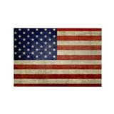 Distressed Flag v2 Rectangle Magnet