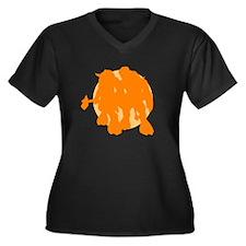 Tauren Pride Women's Plus Size V-Neck Dark T-Shirt