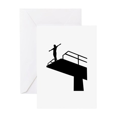 High diving Greeting Card