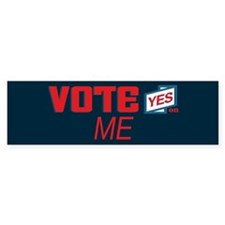Vote Yes 1_bumpersticker Bumper Bumper Sticker