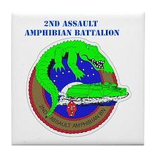 2nd Assault Amphibian Battalion with Text Tile Coa