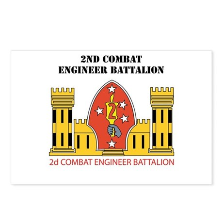 2nd Combat Engineer Battalion with Text Postcards