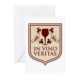 In Vino Veritas Greeting Cards (Pk of 20)
