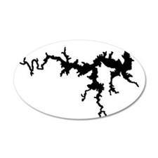 DRAGON {1 black} solid 22x14 Oval Wall Peel