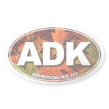 ADK (Fall Leaves) Oval Bumper Stickers