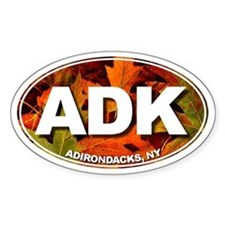 ADK (Fall Leaves) Oval Decal