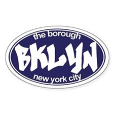 Brooklyn NYC - Oval Decal