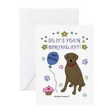 Chocolate Lab Greeting Card