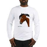 Long Sleeve T-Shirt with Curly Paint image