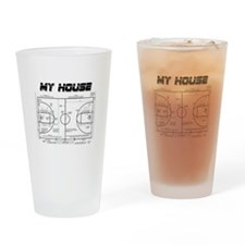 Basketball House Drinking Glass