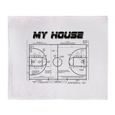 Basketball House Throw Blanket