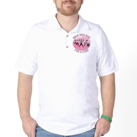 Breast Cancer Walk Run Ride Golf Shirt