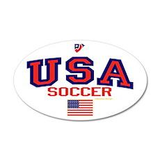USA American Soccer 22x14 Oval Wall Peel