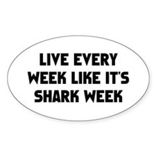 Live Shark Week Decal