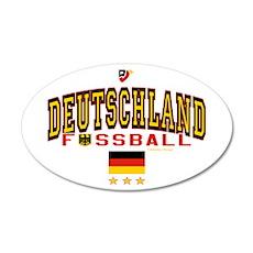 Deutschland Fussball Soccer 22x14 Oval Wall Peel