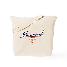 Savannah Script Tote Bag
