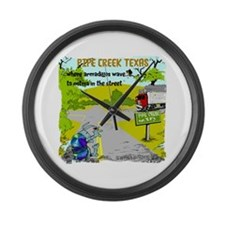 Pipe Creek Texas Large Wall Clock