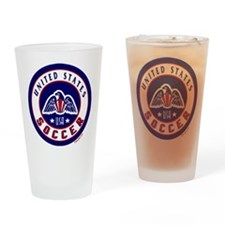USA United States Soccer Drinking Glass