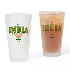 IN India Indian Cricket Drinking Glass