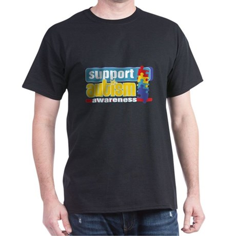 Support Autism Puzzle Dark T-Shirt