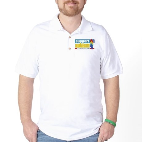 Support Autism Puzzle Golf Shirt