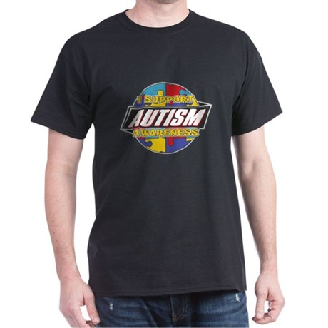 I Support Autism Awareness Dark T-Shirt