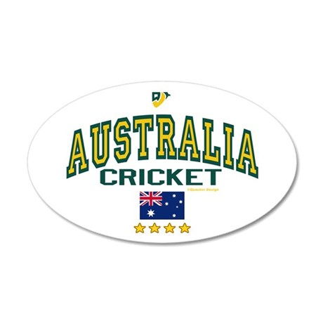 AUS Australia Cricket 22x14 Oval Wall Peel