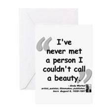 Warhol Beauty Quote Greeting Card