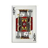 Lacrosse King of Spades Rectangle Magnet