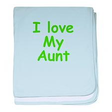 I Love My Aunt baby blanket