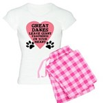 Great Dane Pawprints Women's Light Pajamas