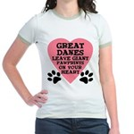 Great Dane Pawprints Jr. Ringer T-Shirt