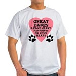 Great Dane Pawprints Light T-Shirt