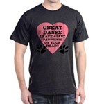 Great Dane Pawprints Dark T-Shirt