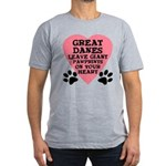 Great Dane Pawprints Men's Fitted T-Shirt (dark)