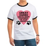 Great Dane Pawprints Ringer T