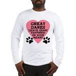 Great Dane Pawprints Long Sleeve T-Shirt
