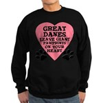 Great Dane Pawprints Sweatshirt (dark)