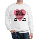 Great Dane Pawprints Sweatshirt