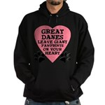 Great Dane Pawprints Hoodie (dark)