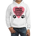 Great Dane Pawprints Hooded Sweatshirt