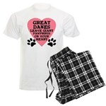 Great Dane Pawprints Men's Light Pajamas
