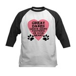 Great Dane Pawprints Kids Baseball Jersey