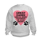 Great Dane Pawprints Kids Sweatshirt