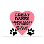 Great Dane Pawprints Postcards (Package of 8)