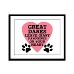 Great Dane Pawprints Framed Panel Print